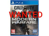 LOOKING TO BUY CALL OF DUTY MODERN WARFARE PS4