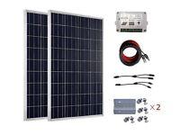 ECO-WORTHY 200W Complete Solar Panel Kit for 12V 24V Battery Charger: 2pcs 100W Solar Panels