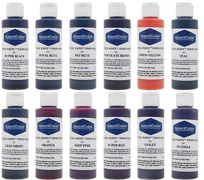 Best AmeriColor 12 Color Soft Gel Paste Food Coloring 4.5 Ounces Variety Kit