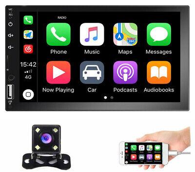 "7"" Car Radio Apple/Andriod Carplay BT Car Stereo Touch Screen Double 2Din+Camera"
