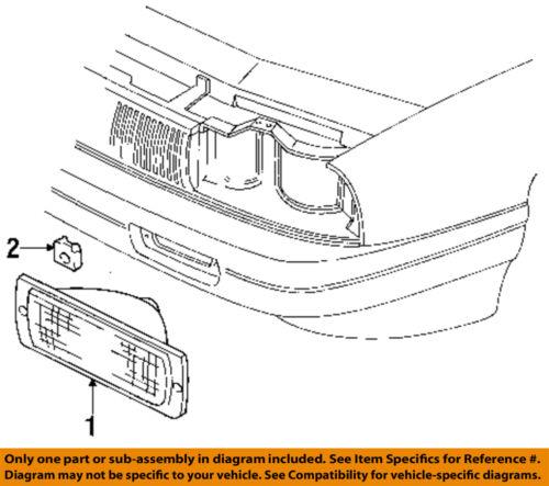 Buick GM OEM 93-94 Regal-Park/turn Lamp Left 5976754