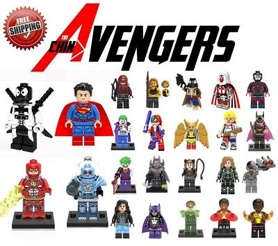 Lego DC Mini Figures Avengers Justice Batman Flash Superhero Building Block Toys