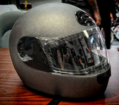 Harley Davidson DOT Open Full Face Helmet M (MATTE CHARCOAL) Flat Track