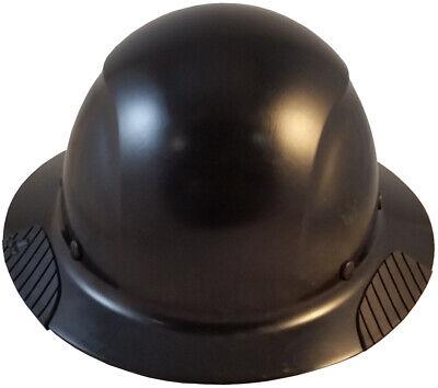 Lift Dax Composite Fiberglass Matte Black Full Brim Hard Hat Ratchet Susp