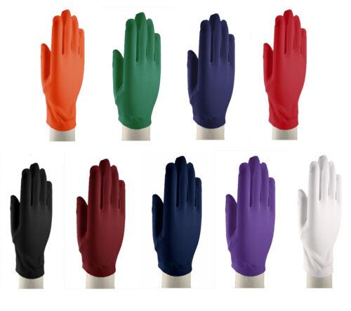Wrist Length Dress Gloves - Dress Up, Church, Formal - White, Black & 7 Colors