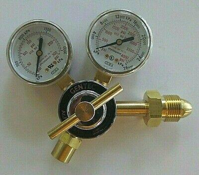 GENTEC 190IN-175 NITROGEN GAS REGULATOR Argon Helium N2 0-300 PSI CGA580 Brass ()