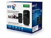 BT Broadband Extender Flex 500 Kit Pass Through Powerline Adapters - Twin Pack