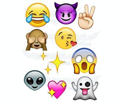 Big Emoji Stickers (Emoji big smiles A5 stickers set)