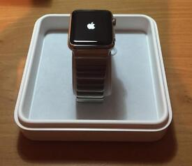 Apple Watch 42mm 316L Stainless Steel series 1 as new in box. 3 straps + screen cases