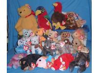 20 Ty Beanie Babies collection - very cute and very collectable mixed bunch