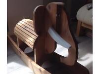 Child's Wooden Rocking horse Elephant