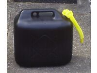 4x 20lt plastic petrol/diesel/water jerry cans with spout. Brand new.