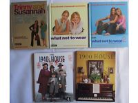 5 Ladies fashion / home books Trinny and Susannah / 1940s / 1900 household AS SEEN ON TV LIFESTYLE