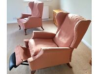 Two Parker Knoll Reclining Easy Chairs