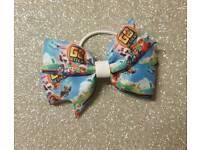 Go jetters/pj masks /bing pinwheel hair bows clips/ bobbles/ headbands/dummy clips