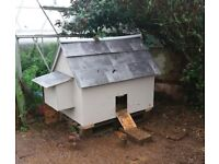 Hand crafted chicken house