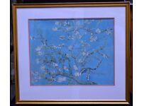 Van Gogh 'Blooming Almond branch' print in Gilt frame
