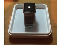 Apple Watch 42mm 316L Stainless Steel series 1 in box. 3 straps + screen cases
