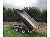Tipping trailer galvanised twin axle Hydraulic ifor Williams style