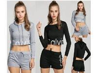 New Ladies Girls Ck Inspired Shorts Sets