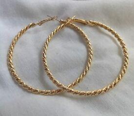 'Barleytwist' Gold Plated Earrings.