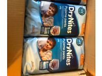 DRY NITES HUGGIES PYJAMA PANTS FOR BOYS 3-5years old (30 in a box)
