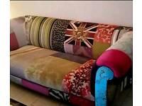 Vintage bespoke patchwork sofa