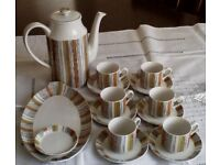 VINTAGE 1960'S/70'S MIDWINTER SIENNA COFFEE SET WITH RARE COFFEE JUG