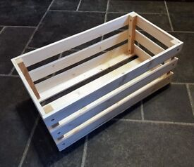 Larger Hand-Made WOODEN CHRISTMAS GIFT CRATE