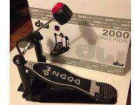 DW 2000 DW2000 kick bass drum pedal AS NEW barely used