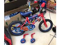 Boys Spider-Man First Bike with/without stabilisers