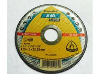 25x Cuttind discs A-60 Extra KLINGSPOR 115 x 1mm ( 4,5 ) stainless steel, metal, universal applicat