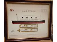 R.M.S TITANIC framed picture