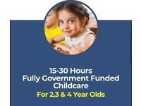 OUTSTANDING NURSERY 15/30 Hours Funded Places Available for 2,3 & 4 year olds
