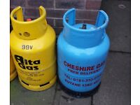 2 X GAS BOTTLES . £5 EACH . if reading this they will still be for sale ad will be deleted when sold