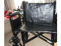 "Sentra HD Heavy Duty Transit Wheelchair - 24"""