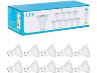 GU10 LED 10 pack Light Bulbs 8W, Warm White 2700k