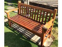 Teak wooden garden bench outdoor wood chair