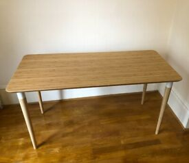 HILVER Bamboo Desk in Excellent Condition