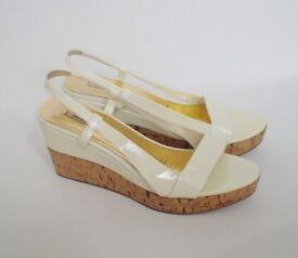 MIU MIU patent leather wedge shoes size: EU 40 / UK 7, RRP £370, -