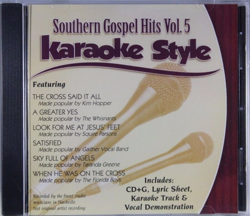 Southern Gospel Hits Volume 5 Christian Karaoke Style NEW CD+G Daywind 6 Songs