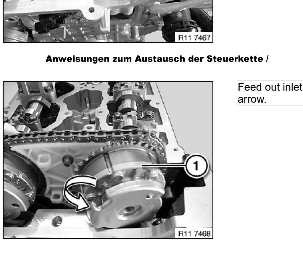 Reparaturanleitu 1er 3e 5e 116i 118i 120i N43B20 Original BMW Steuerkettensatz