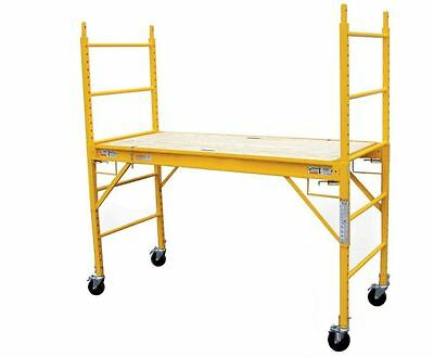 Pro-series 6 Ft. Multi-use Drywall Baker Scaffolding Rolling Capacity Scaffold