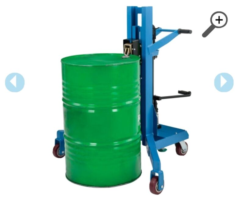 Global Industrial Hydraulic Drum Lifter & Transporter, 1100 Lb. Capacity