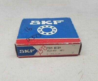 New Skf 7309 Becby Angular Contact Ball Bearing 45mm X 100mm X 25mm