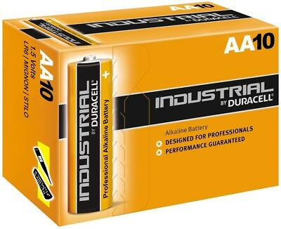 Duracell INDAA Plus Alkaline Battery 10 Pieces Industrial MN1500 AA LR6 1.5V Industrial Plus Alkaline-batterien
