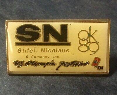 1989 Ok   Us Olympics Festival   Stifel Nicolaus Sponsor Lapel Hat Pin