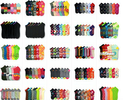 Wholesale Lot Women's Girl Mixed Assorted Designs Ankle No show Low Cut Socks  - Women Wholesale