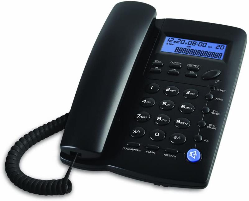 Landline Phone Corded Home Office Desk Telephone with Speake
