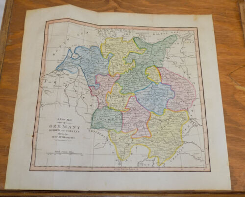 1817 Antique COLOR Map///GERMANY